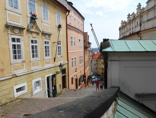 Жилые дома в стиле барокко вдоль  Замковой лестницы