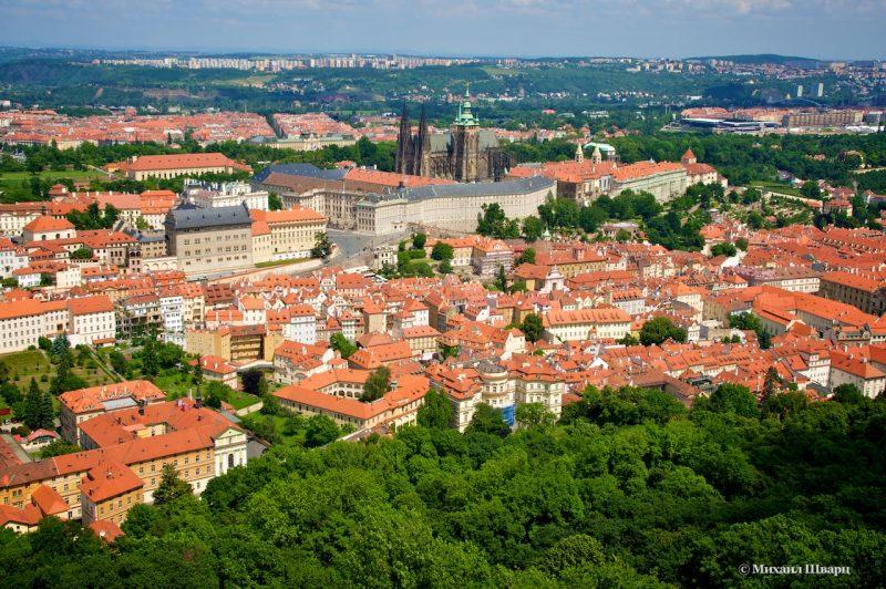 Прага, вид с Петршинской башни