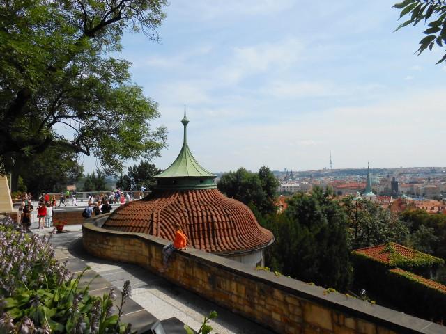 Панорама Праги со смотровой площадки Райского сада