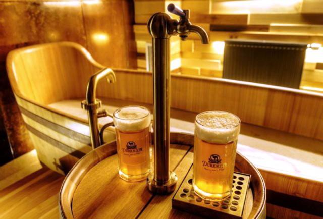 Пивные ванны в пивоваре Purkmistr