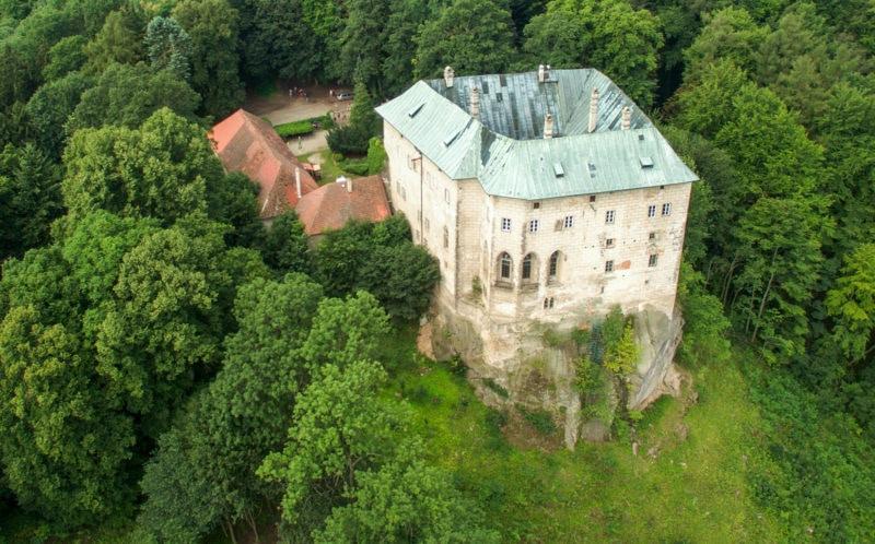 Замок с высоты птичьего полета