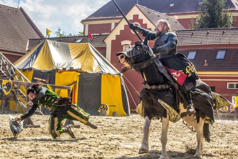Турниры рыцарей в замке Детенице