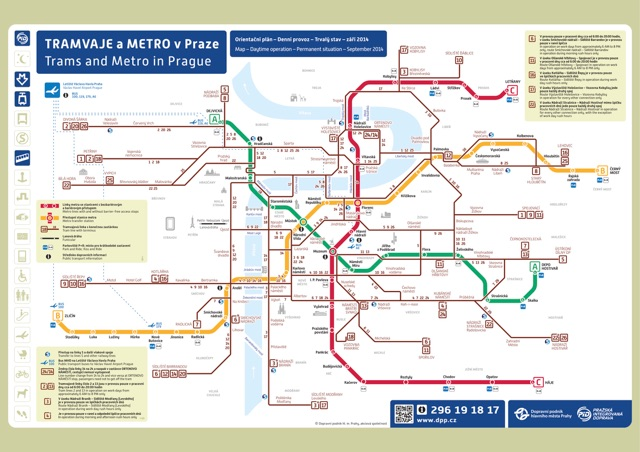 Схема транспорта Праги