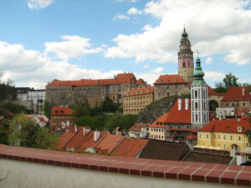 Вид на Крумловский замок