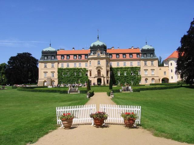 Замок Ланы - летняя резиденция президентов Чехии
