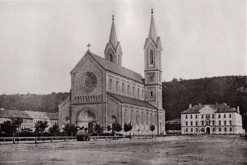 Фотография церкви, сделанная в 1868 году