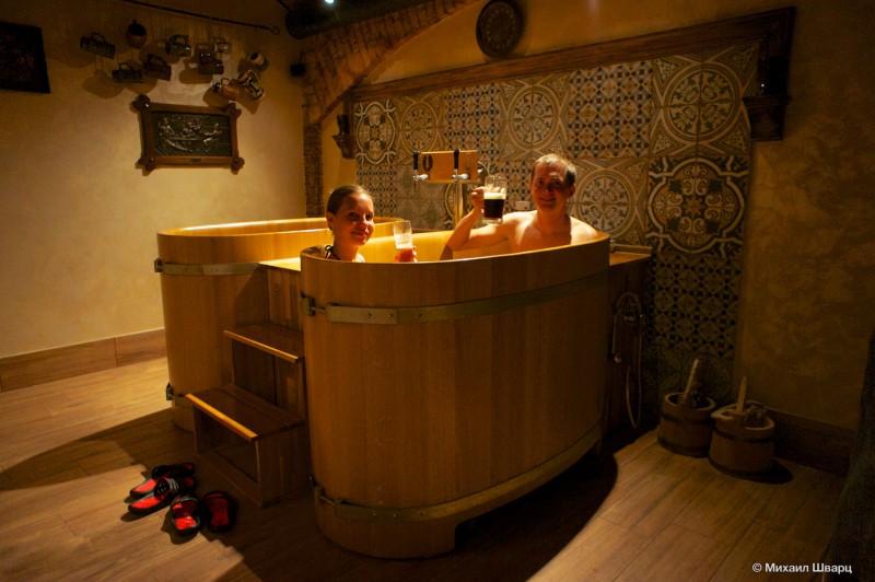 Семейная пивная ванна
