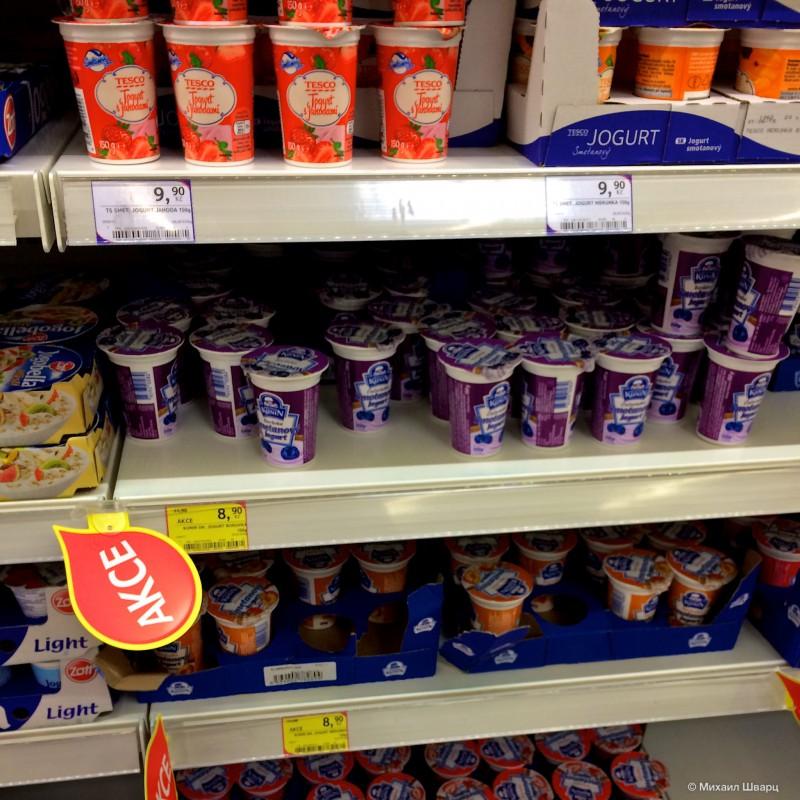 Дешевые йогурты