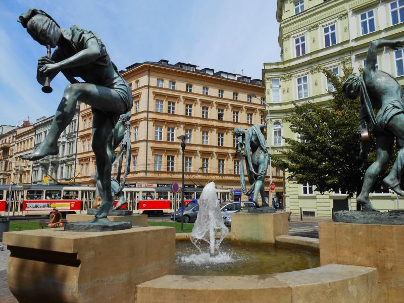Пражские фонтаны