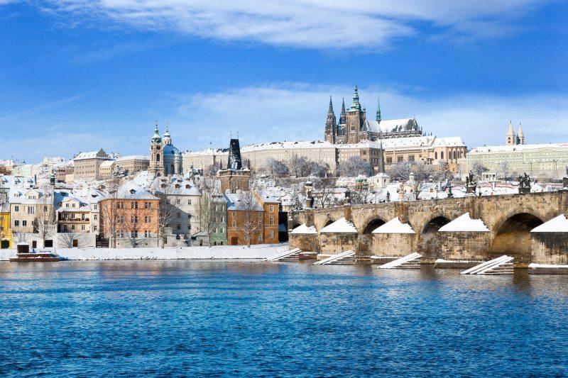 Пражский град зимой
