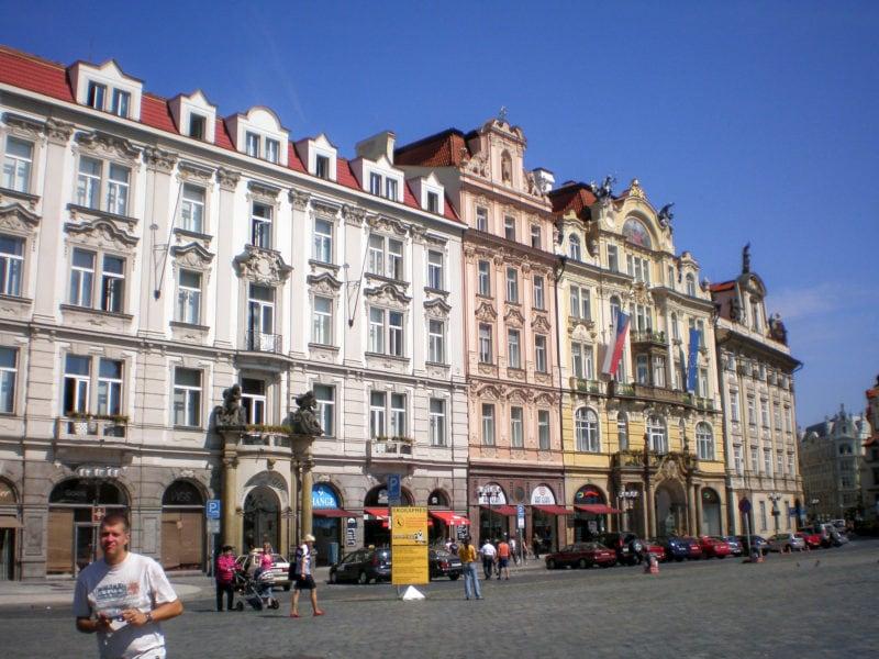 Дома на северной стороне Староместской площади