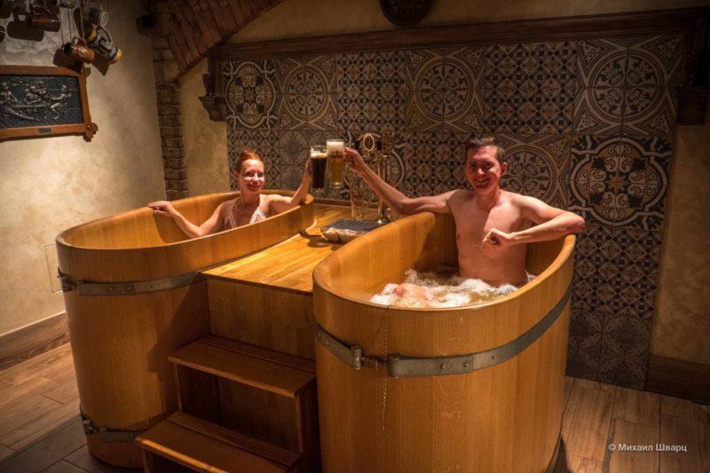 Отмокаем в пивных ваннах Lázně Pramen