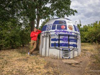 Дроид R2-D2 из Звёздных войн в парке Фолиманка